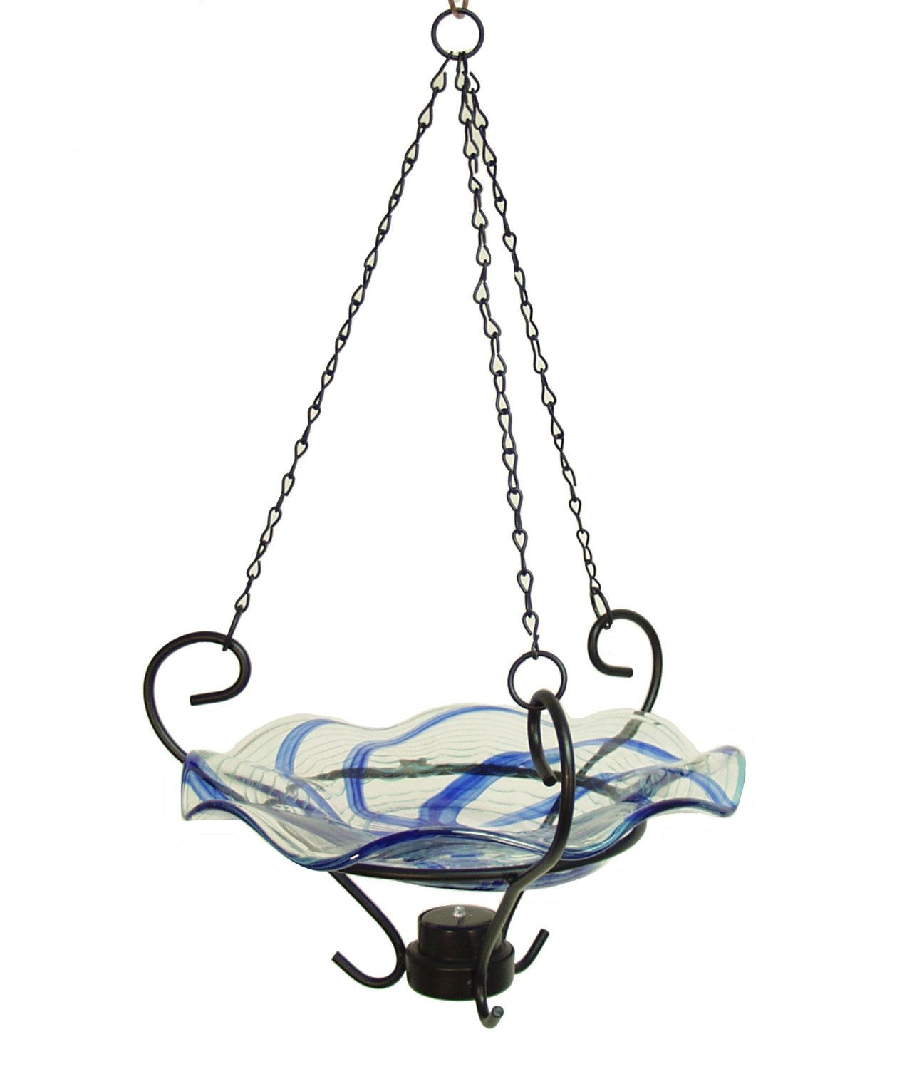 Echo Valley 5161 Lunalite Wavy Hanging Birdbath, Blue