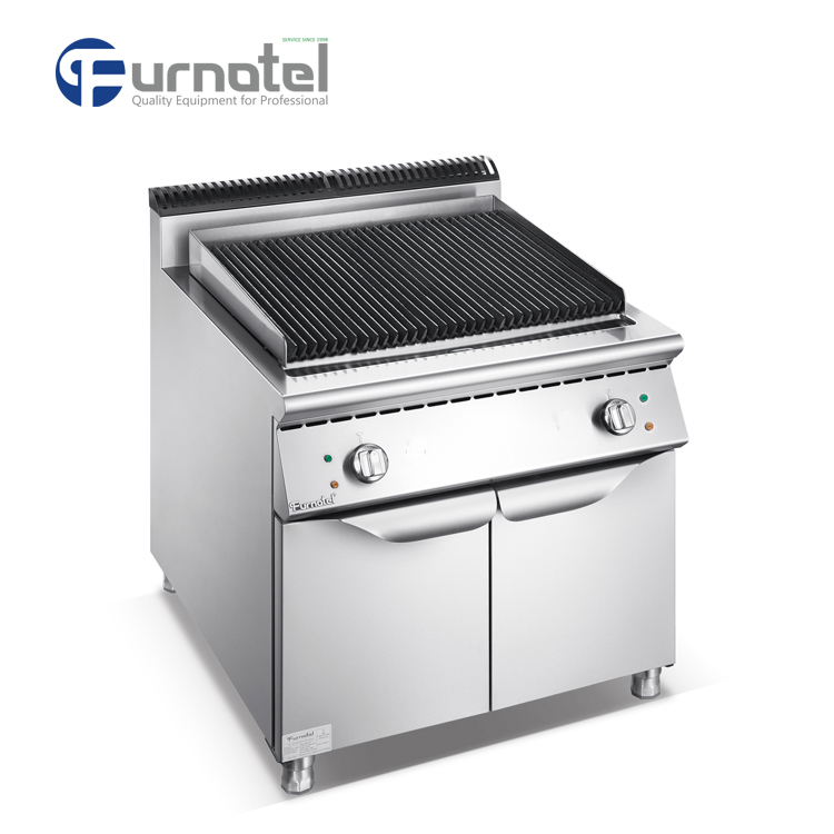 Professional Indoor Hotel Restaurant Industrial Electric/Gas Barbecue Lava Rock Grill