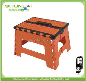 Tremendous Easy Life Carry Folding Step Stool Seat With Anti Slip Surface 13 Inch For Kids Works Home Orange Black Buy Plastic Step Stool Seat Folding Forskolin Free Trial Chair Design Images Forskolin Free Trialorg