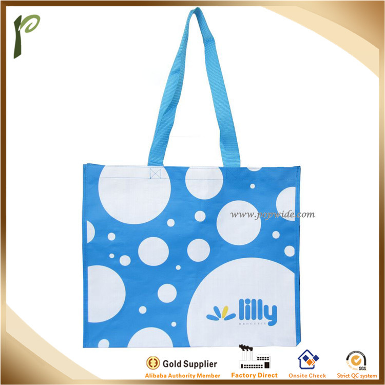 Popwide customized water-proof velcro closure PP Shopping Bag