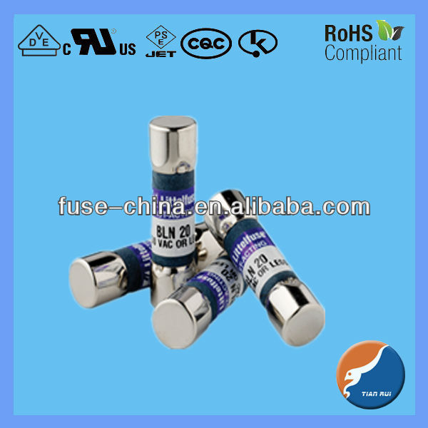 BLN series fast acting fiber body midget fuse