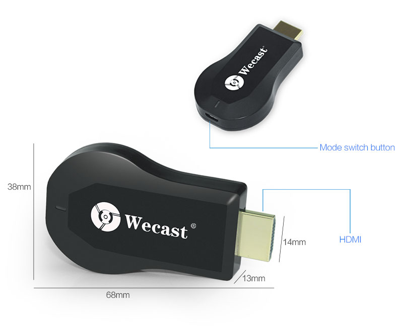 C2 Factory Wholesale Rockchip 3036 Miracast/DLNA/Airplay HDMI WIFI Wireless Display Tv Dongle Adapter