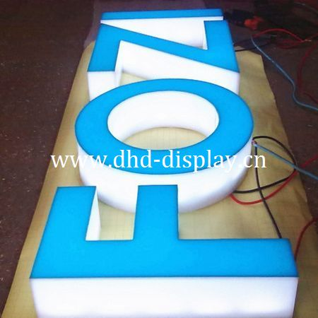 illuminated led acrylic channel letter building signs