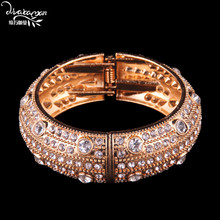 Dvacaman Brand 2018 Luxury Crystal Charm Bracelet Women Vintage Gold Plated Maxi Bangle&Bracelet Hand Accessory Jewelry Gift J71