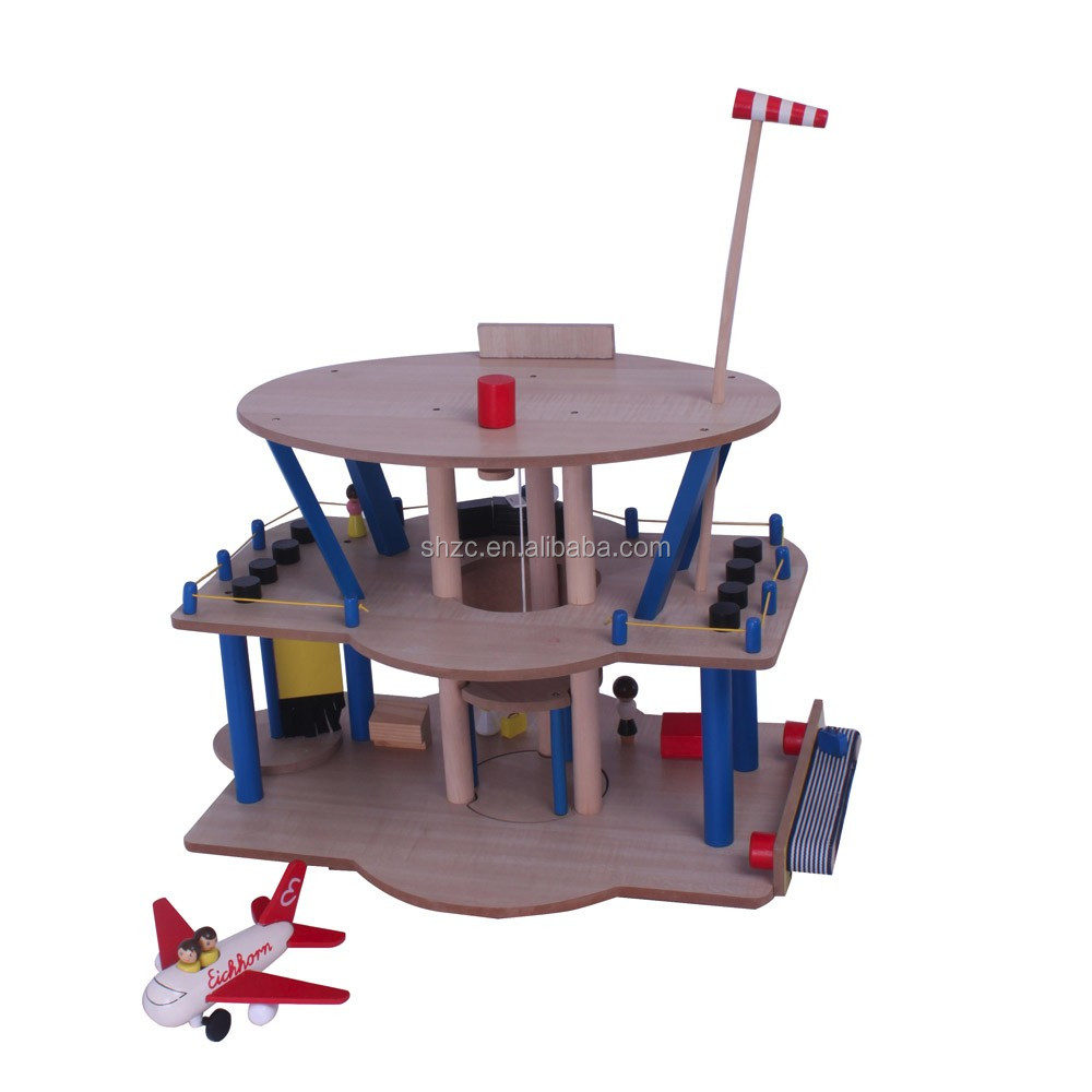 Wood Building Toys For Boys : Educational boys love roleplay wood airport toys buy