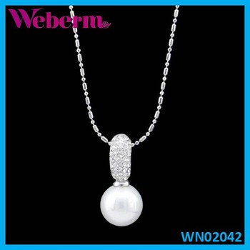 Silver Chain Simple Pearl Necklace Design Ideas For Pendant ...