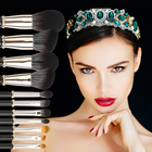 Custom your own brand brush 12 pcs goat hair makeup brushes luxury makeup brush set