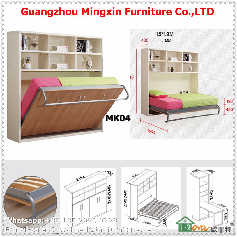 Alta calidad transformable multifuncional cama plegable - Cama pared plegable ...
