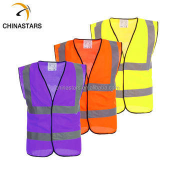 Purple High Visibility Reflective Safety Vests Buy