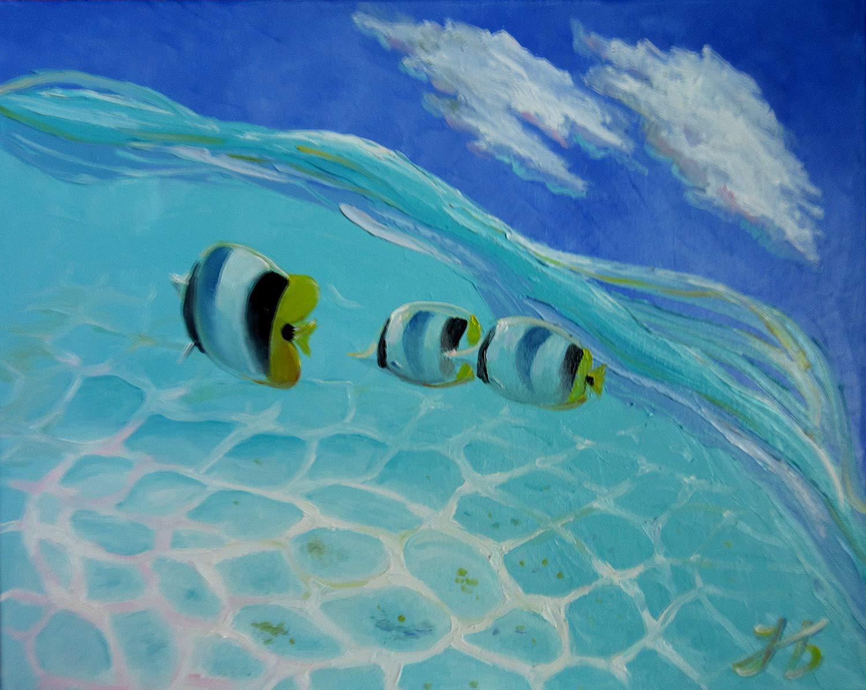 underwater painting easy - HD1500×1195