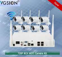 P2P Surveillance 8CH Wireless WIFI NVR camera kit for commercial, residential, industrial and offices cctv security