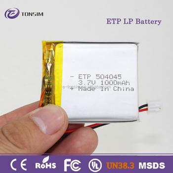504045 Li-ion Battery 3.7v 4.2v 7.4v Lipo Battery 1000mah Lithium ...