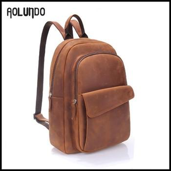 Vintage Brown Real Italian Leather School Backpack Pattern - Buy ...