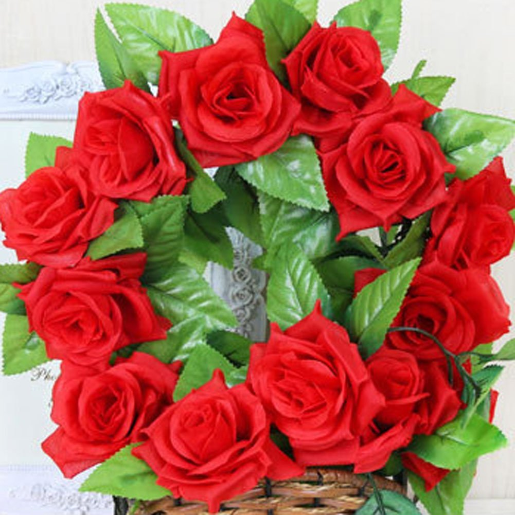 Buy Artificial Fake Hanging Vine Weksi Plant Leaves Artificial Flower Real Touch For Garland Home Garden Wall Decoration Red Rose Leaf Vine In Cheap Price On Alibaba Com