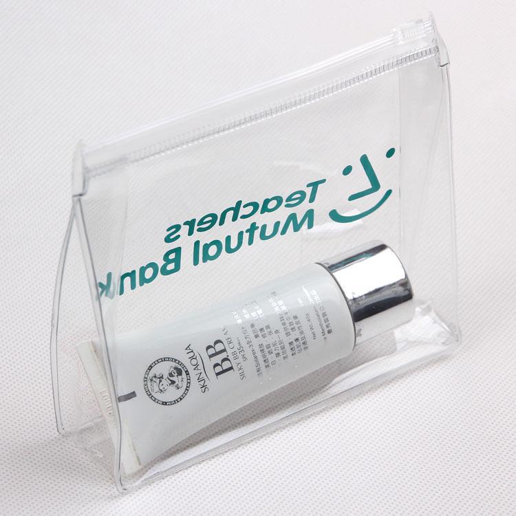 Trong Suốt Tùy Chỉnh In Logo Thương Hiệu Rõ Ràng PVC Zip Khóa Trượt Túi Nhựa Cho Mỹ Phẩm Đồ Bơi/Đồ Bơi/Tài Liệu Dây Kéo Túi