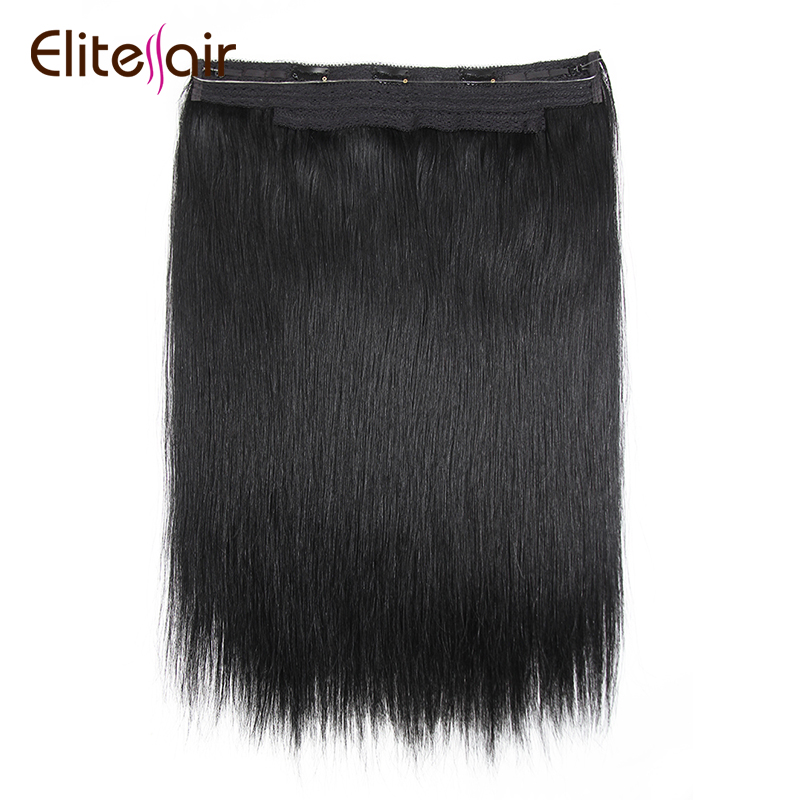 100 Human Halo Hair Extensions No Clips No Glue Easy To Wearsilky