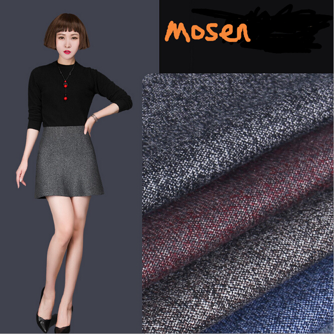 W11106 colorful yarn knitted wool A-line skirt mature office lady skirts wholesale