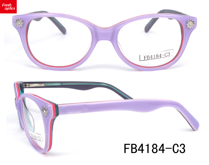FB4184 New style fashionable acetate optical frames for girls