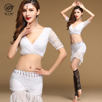 T-5164 Attractive design lace women tribal belly dance costume