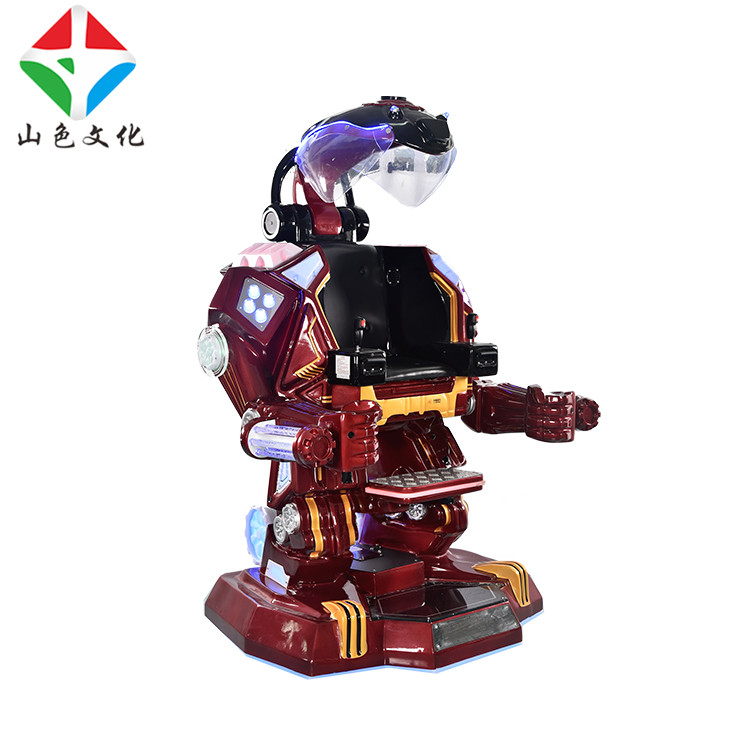 Newest Amusement Products Iron Man Robot Kids Ride On Robot