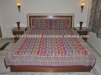 Block Print Bedspread Handmade Cotton Indian Bedding Set Wholesale