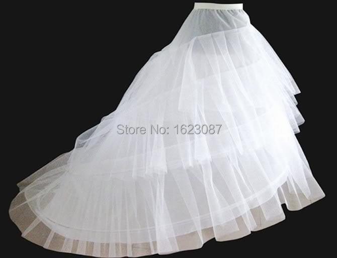 2015 New In Stock Cheap Bridal Petticoats Three Hoop White