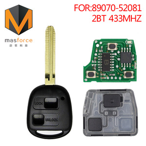 Auto remote car key for Toyota Echo and Celica 89070-52081 2button 433MHz