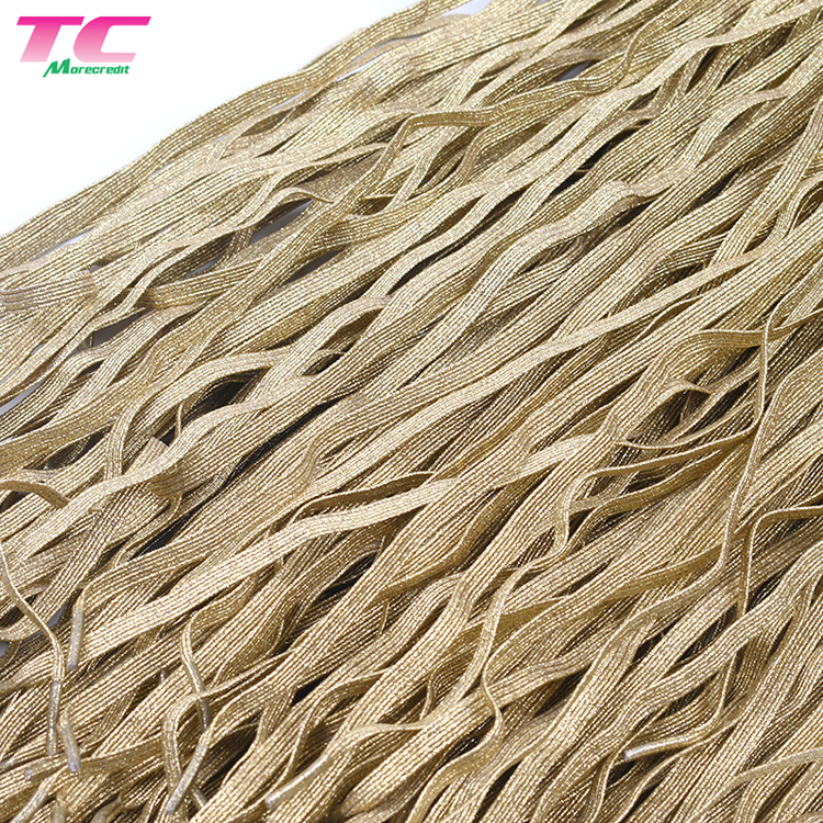Morecredit Fancy Gold Metallic Glitter Wholesale Polyester Flat Elastic Shoe Laces For Athletic Shoes