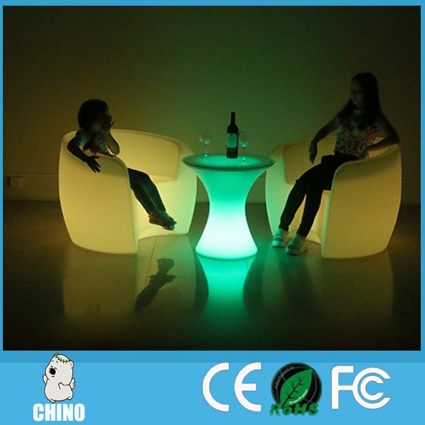 Nightclub LED Cube Seat Chair Bar Chair led arm chair