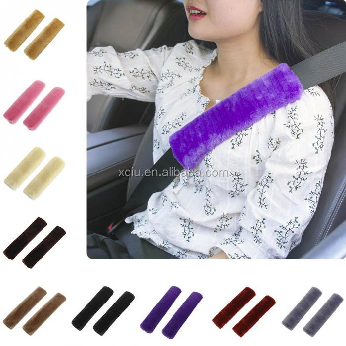 New Hot Fashion Car Seatbelt Shoulder Pad Comfortable Driving Seat Belt Vehicle Soft Plush Auto Seatbelt Strap Harness Cover