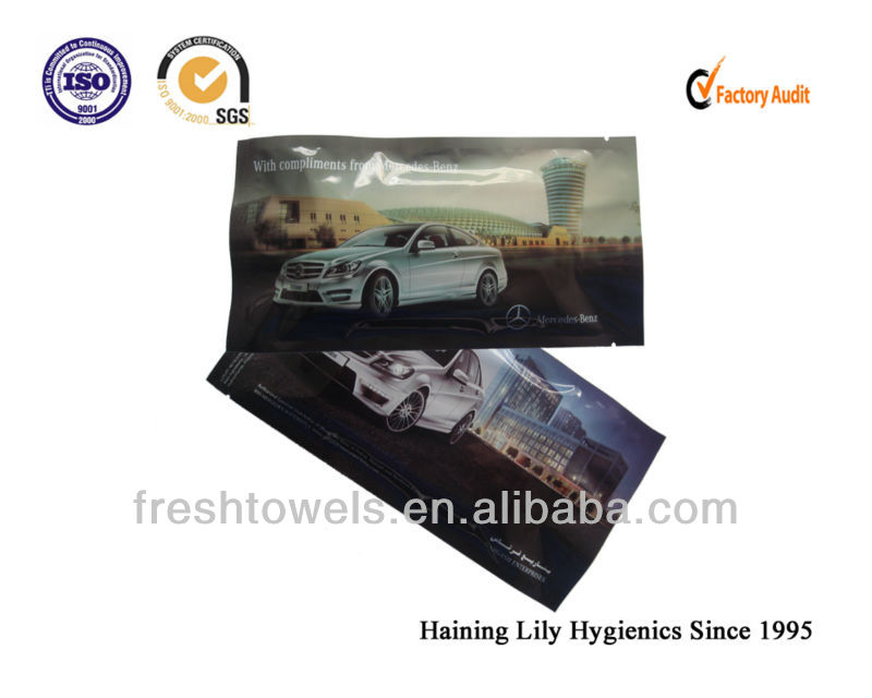 Disposable Car/Auto Wipes promotional products Individual Wrapped Car Wet Wipe Manufacturer