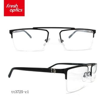 Tt3725 Trapezoidal Metal Golden Half Rim Frame Glasses,Popular ...