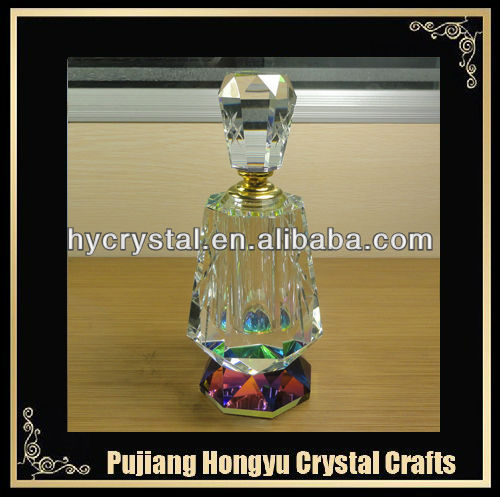 Hot sales k9 big crystal clear perfume bottle favors