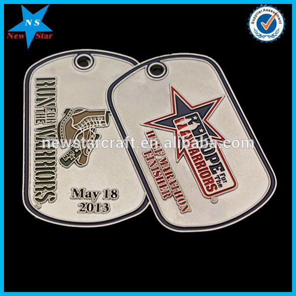 Metal Hang Tag Military Dog Craft