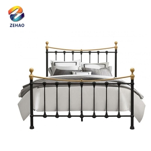 American style bed of wooden metal 1.5 meter classical bed marriage