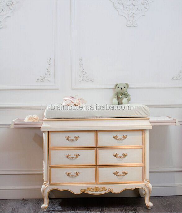 European Style Luxury Ivory Hand Carved Baby Changing Station, Antique  Wooden Baby Diaper Changing Table