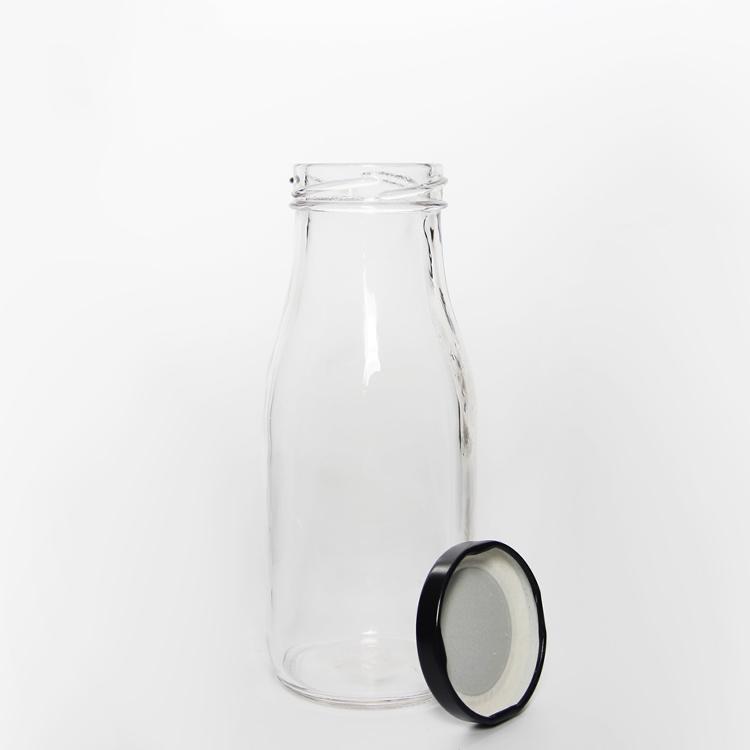 200 ml 300 ml 500 ml दौर lids के साथ रस पानी के गिलास दूध की बोतलें
