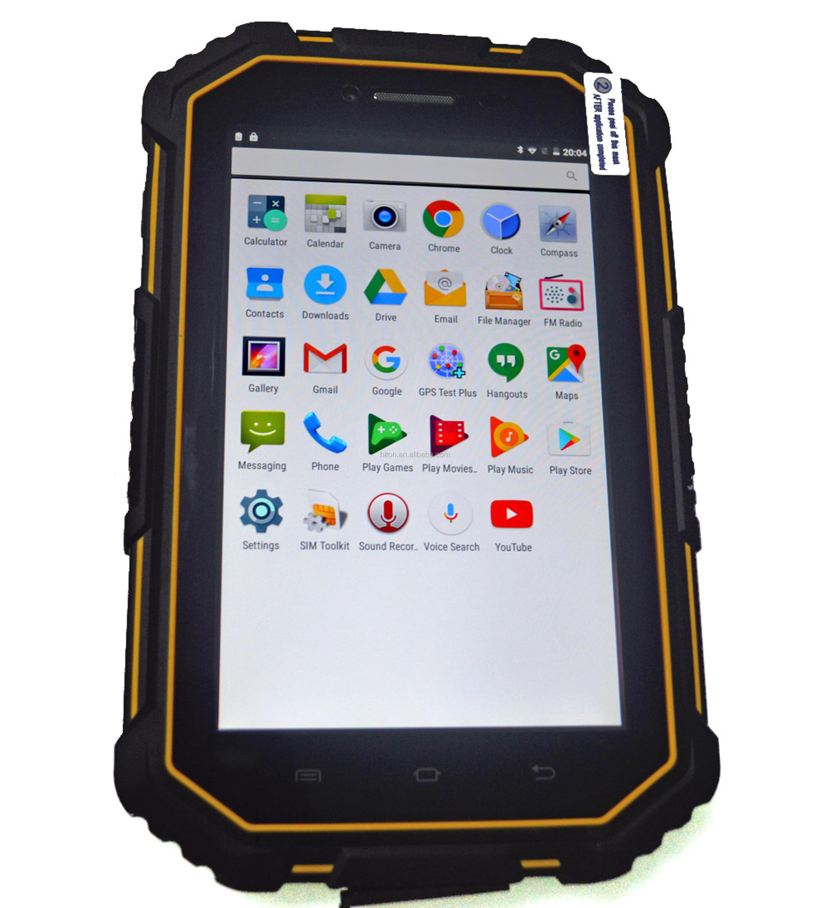 Cheapest 7inch quad core NFC rugged industrial waterproof tablet pc with GPS GLONASS 4G LTE dustproof computer pad with IP67