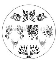 2015 new A Series A57 Nail Art Polish DIY Stamping Plates Image Templates Nail Stamp Stencil