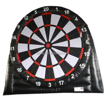 Custom Super Giant Inflatable Football Golf Dart boards Hire inflatable golf dart game inflatable golf target ball for sale