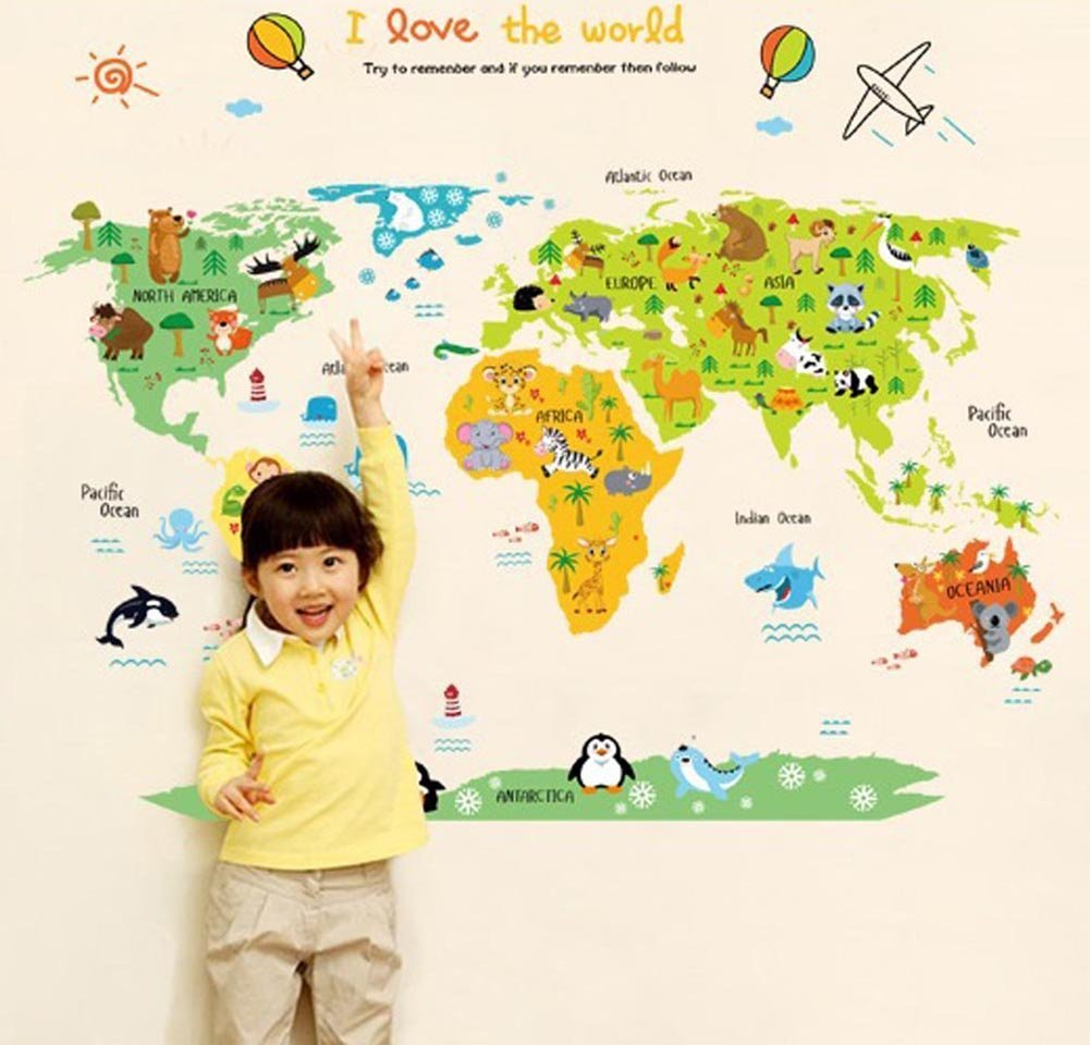 Cheap World Map Wall Sticker, find World Map Wall Sticker deals on ...