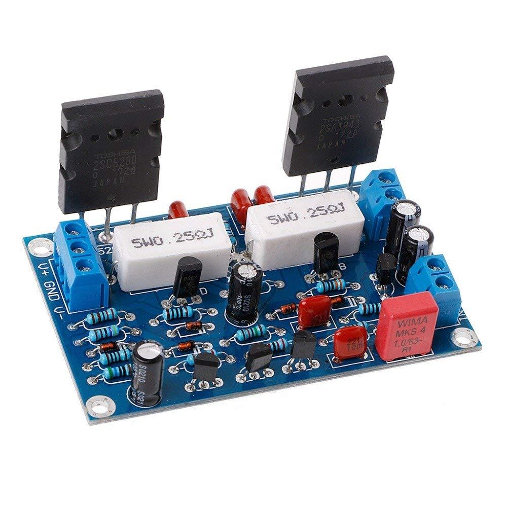 POYING 2SC5200+2SA1943 Dual DC 35V 100W Mono Channel HIFI Audio After Class Amplifier
