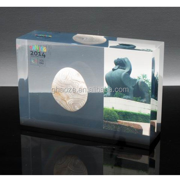 Custom Resin Paperweight Black Acrylic Block Factory Buy