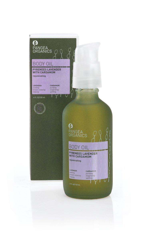 Pangea Organics Body Oil   Pyrenees Lavender with Cardamom   Body Massage Oil   Nourishing, Organic Body Oil for Dry Skin   4 Oz. Anti-Aging, Natural Skin Oil   Vegan & Gluten-Free   Non-GMO
