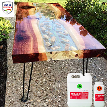 Wood Resin Table Crystal Clear Bar Table Top Epoxy Resin and AB Glue