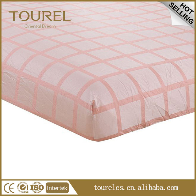 Customised Home And Hotel Linen 100 Cotton Fabric Line Bed Sheet Wholesale