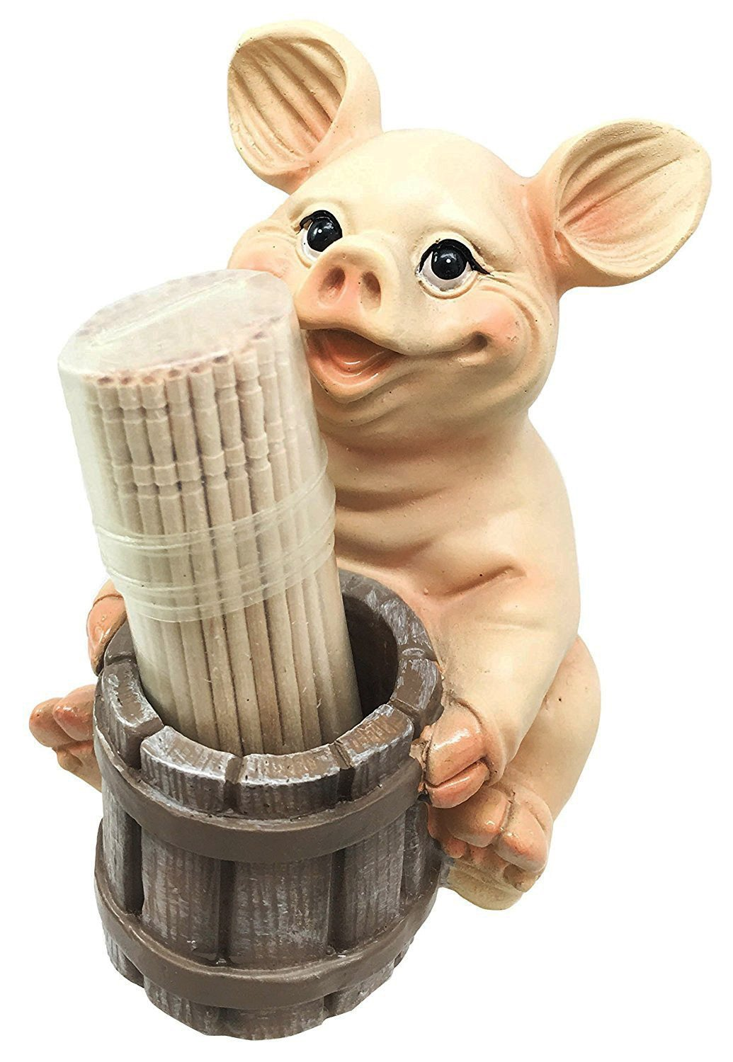 Get Quotations Ebros Country Farmland Barn Piglet Pig Toothpick Holder Statue 3 75 Tall With Toothpicks