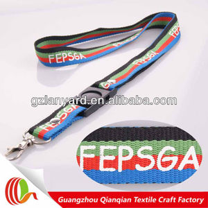 Cheap custom lanyards no MOQ digital watch lanyard
