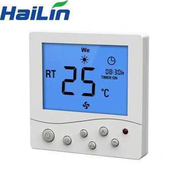 220v cheap two pipe fan speed control button rs485 modbus room thermostat