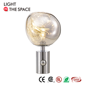 New design Restaurant Luxury Vintage Marble Glass Led Pool Gun Table Touch Lamp